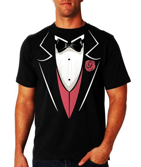 Tees With Vest tuxedo t shirts mens tuxedo t shirt with pink vest and flower black