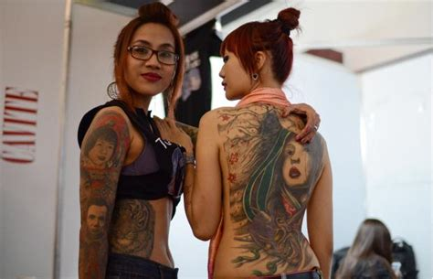 indonesia tattoo festival photos tattoo enthusiasts get to the point in manila