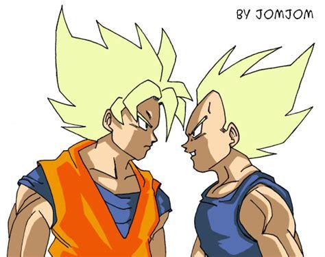 imagenes de goku malo goku vs vegeta by jomjom on deviantart