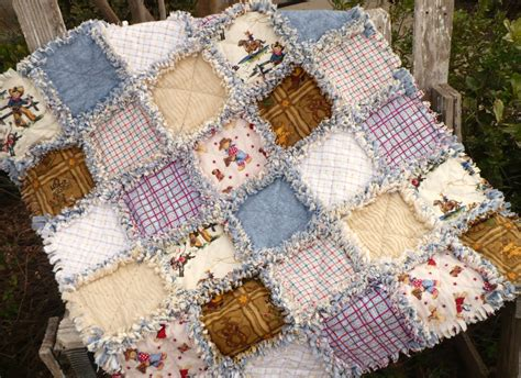 Western Baby Quilt by Cowboy Baby Boy Rag Quilt Western Plaids And Denim