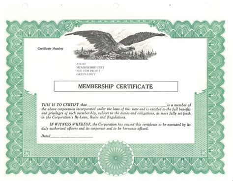 doc 600468 corporate stock certificate template
