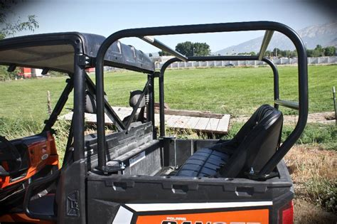 polaris ranger bed seat utvma back seat and roll cage kit for polaris ranger xp 900