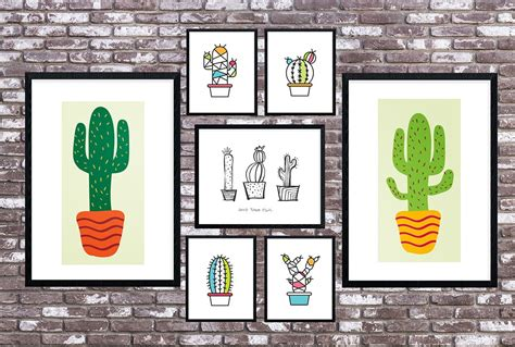 free printable hello cactus printable riss home design 40 free farmhouse printables for that fixer upper vibe