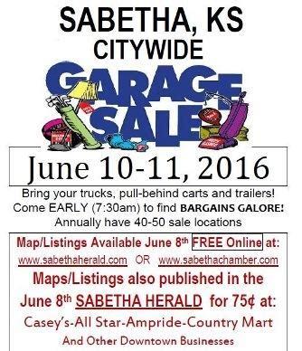 City Wide Garage Sales In Kansas by Sabetha Ks City Wide Garage Sales June 10 11 Y All Come