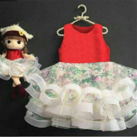 Dress Pesta Anak Perempuan Cewek Bronsy Bunga Petal Pink Ungu 1 2tahun setelan celana baju anak perempuan lucu murah