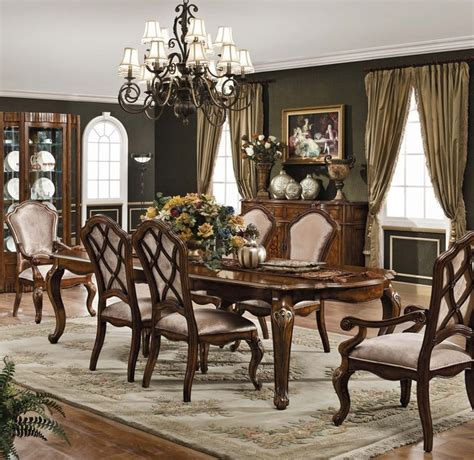 traditional dining room sets carneros dining set traditional dining room other