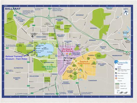 Ballarat Botanical Gardens Map Location Of The Ballarat Tramway Museum