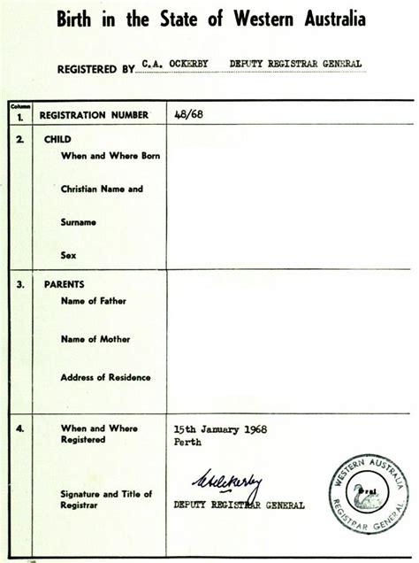full birth certificate wa pin australian birth certificates template on pinterest