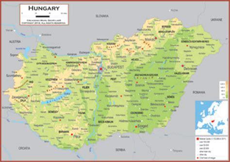 physical map of hungary hungary maps academia maps