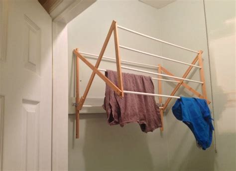 Diy Wall Mounted Drying Rack by Diy Drying Rack Genius Bob Vila