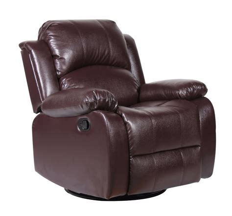 bonded leather rocker  swivel recliner living room chair  brown ebay