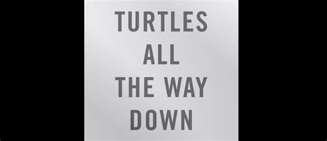 libro the way of all turtles all the way down es el nuevo libro de john green modogeeks