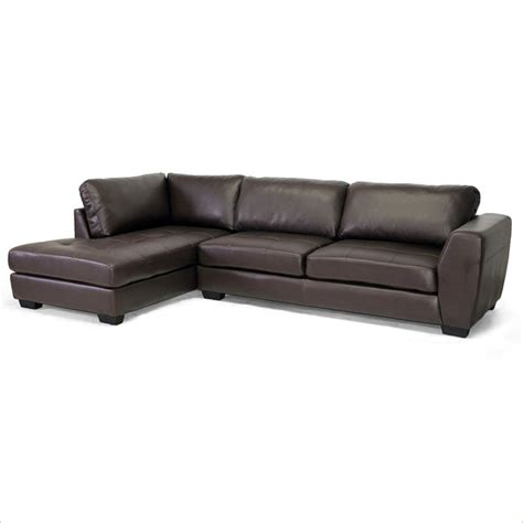 orland left facing sectional sofa in brown ids023 sec
