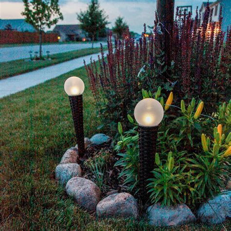 lights com solar solar landscape solar orb light