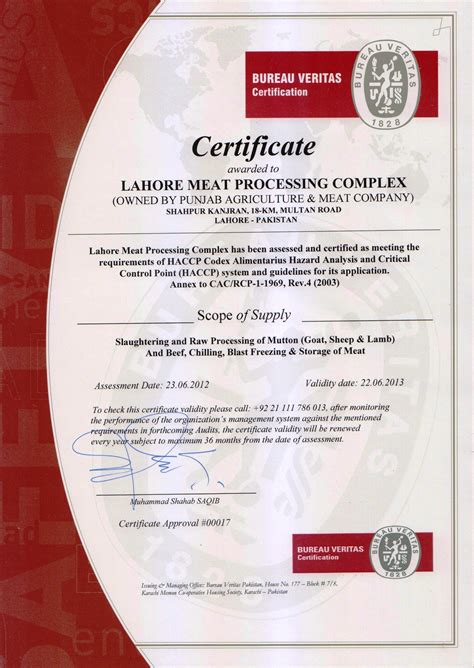 haccp certification letter haccp letter compliance certificate related best