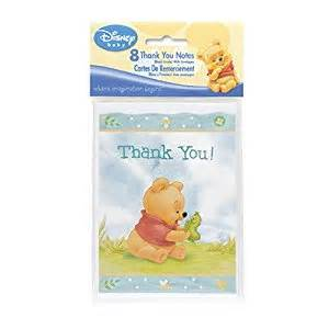 winnie the pooh baby shower thank you notes toys