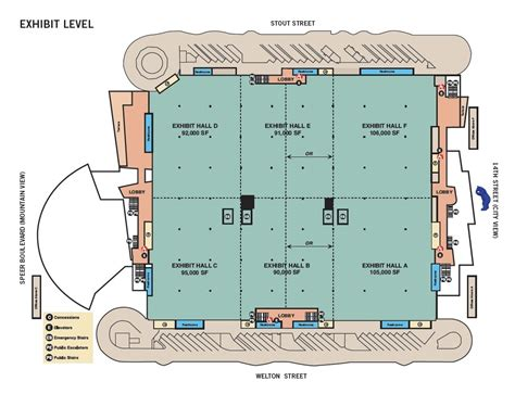 denver convention center floor plan venue directory map denver convention center