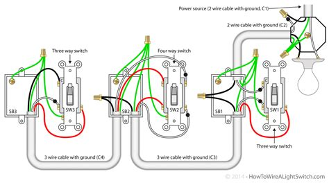 how to wire a 4 way switch diagram gooddy org