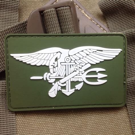 Patch Pacth Rubber 3d Airsoft Gun Rubber Patch Pvc us navy seal team trident 3d pvc army morale rubber velcro