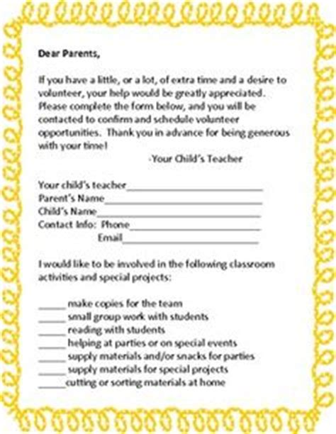 Resignation Letter From Pto Board 1000 Images About Parent Council On Volunteers Parent Volunteer Form And