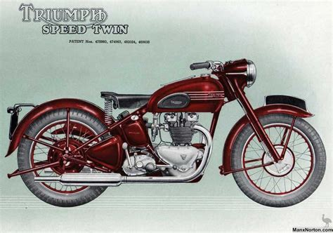 Triumph Motorrad 1950 by Triumph Speed Twin 1950