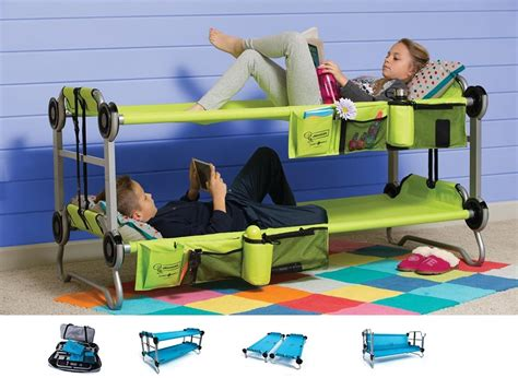 children s portable bed kid o bunk portable bunk bed cot couch side by side cots