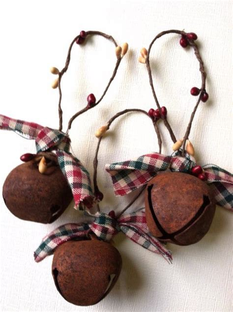 country christmas ornaments to make items similar to sale 6 primitive ornaments bells prim country