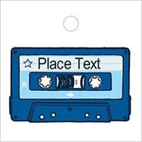 Free Avery 174 Templates Blue Birthday Cassette Tape Printable Tags Tall 20 Per Sheet Labels Cassette Label Template