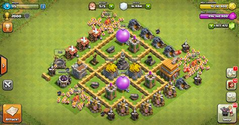 layout of coc farming base clash of clans th 5 layout design base