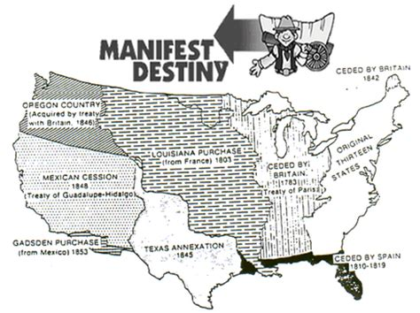 manifest destiny map geography manifest destiny