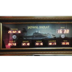 Jual Jam Masjid Jadwal Waktu Sholat Digital Jakarta Non Runing Text galeri portofolio jam digital masjid jadwal sholat