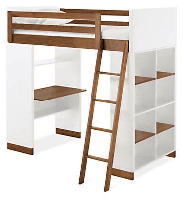 Loft Beds Without Desk by Moda Loft With Shelves Modern Bunk Beds Loft