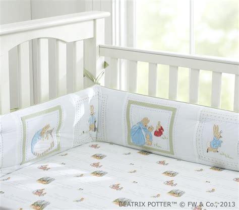 Rabbit Crib Bedding Set by Rabbit Nursery Bedding Set Pottery Barn