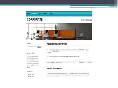 free vector website templates free website template and vector