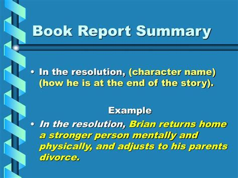 book report powerpoint presentation ppt writing a one paragraph summary of a novel