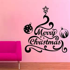 wall decals merry christmas words tree vinyl sticker aliexpress buy new year home