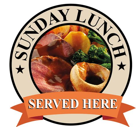 sunday lunch with for the sunday lunch roast sign catering shop sign window sticker