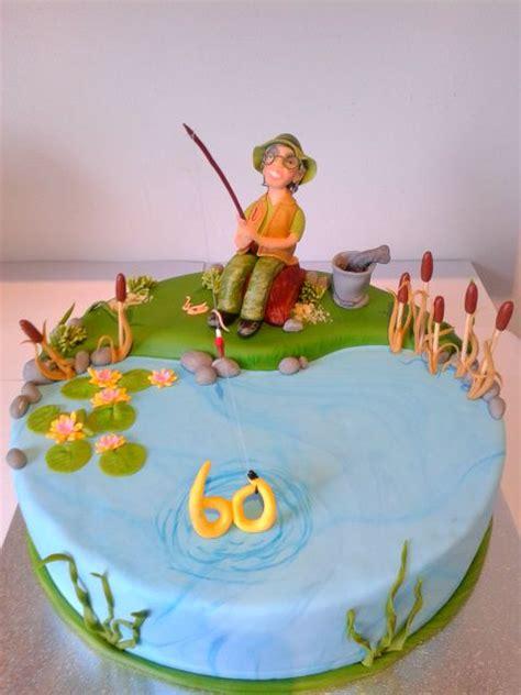 Hochzeitstorte Angler by Geburtstag Erwachsene 187 Angler Torte Angeln Fischen Bina