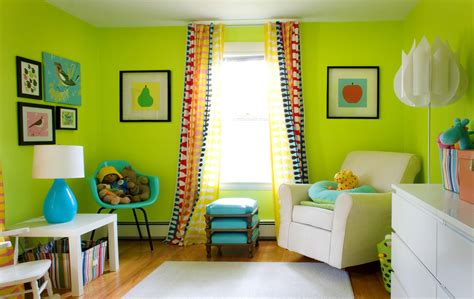 Babyzimmer Farblich Gestalten by Modern Lime Green Living Room Wall Color This Idea