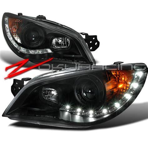 subaru headlight names buy 06 07 subaru impreza wrx black lights r8 led drl