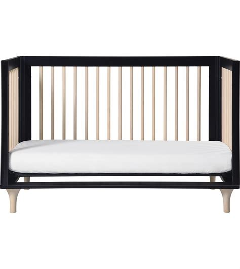 Toddler Bed With Crib Mattress Babyletto Lolly 3 In 1 Convertible Crib With Toddler Bed Conversion In Black Washednatural