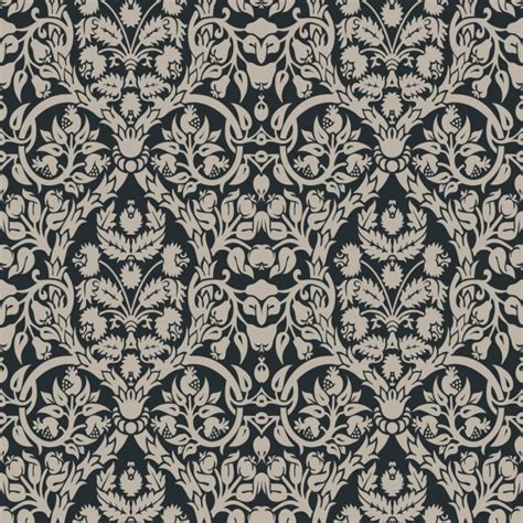 pattern vector elegant black floral elegant pattern vector free download