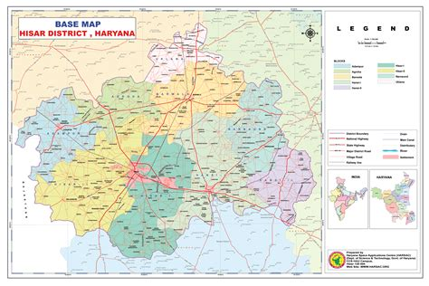 map od map of district hisar
