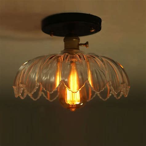 retro art lotus flower design ceiling light rh loft