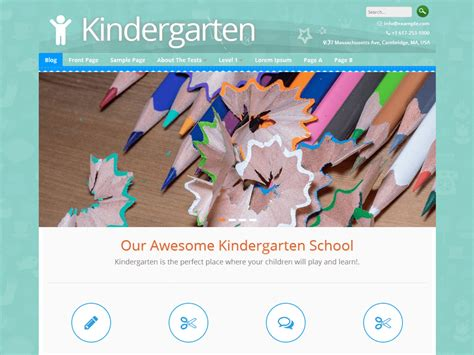 education themes for preschool best education wordpress themes for kindergartens and