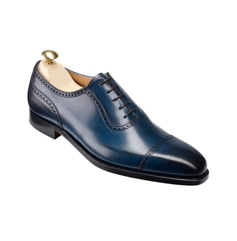 handmade mens formal shoes navy blue leather shoes s