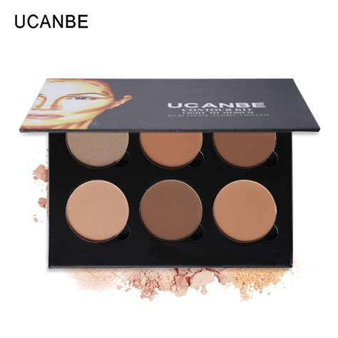 City Color Glow Duo Highlight Powder ucanbe high quality 6 color powder contour palette highlighter bronzer glow kit contouring