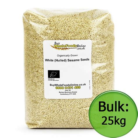 White Sesame Seeds 500g buy organic white hulled sesame seeds uk 500g 25kg
