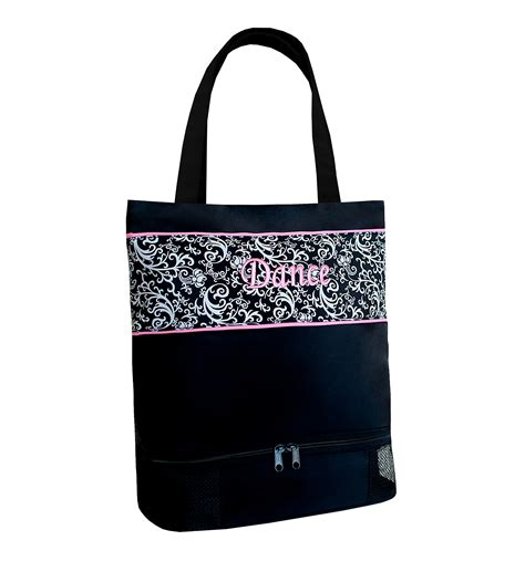 dance tote bag pattern damask pattern quot dance quot tote bag childrens
