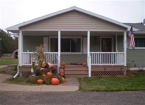 Gable Roof Cost Building Porch Mobile Home Home Improvement Project
